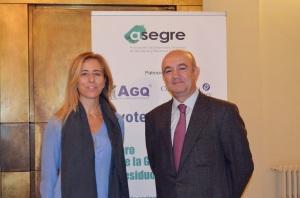Guillermina Yanguas, Magrama, y Aurelio Blasco, pte Asegre